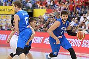DESCRIZIONE : Berlino Berlin Eurobasket 2015 Group B Italy Serbia<br /> GIOCATORE :  Alessandro Gentile<br /> CATEGORIA : Palleggio blocco<br /> SQUADRA : Italy<br /> EVENTO : Eurobasket 2015 Group B <br /> GARA : Italy Serbia<br /> DATA : 10/09/2015 <br /> SPORT : Pallacanestro <br /> AUTORE : Agenzia Ciamillo-Castoria/I.Mancini <br /> Galleria : Eurobasket 2015 <br /> Fotonotizia : Berlino Berlin Eurobasket 2015 Group B Italy Serbia