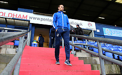 Sam Slocombe of Bristol Rovers arrives at The Sportsdirect.com Park for the fixture against Oldham Athletic - Mandatory by-line: Robbie Stephenson/JMP - 30/12/2017 - FOOTBALL - Sportsdirect.com Park - Oldham, England - Oldham Athletic v Bristol Rovers - Sky Bet League One