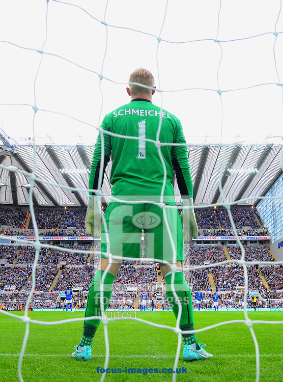 Leicester City goalkeeper Kasper Schmeichel during the Barclays Premier League match at St. James's Park, Newcastle<br /> Picture by Greg Kwasnik/Focus Images Ltd +44 7902 021456<br /> 18/10/2014