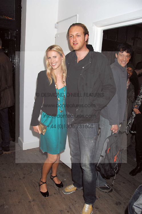 LORD EDWARD SPENCER-CHURCHILL and PETRINA KHASHOGGI at a party to celebrate the opening of a new art gallery, 20 Hoxton Square, Hoxton Square, London on 27th April 2007.<br />