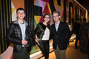 TAITE RICHARDS; KATALINA HICKS; ASHLEY HICKS, Alexandra Shulman, Sir Terence Conran and Deyan Sudjic co -host the opening party of the new Design Museum  in the former Commonwealth Institute pavilion, High Street Kensington London. 22 November 2016.