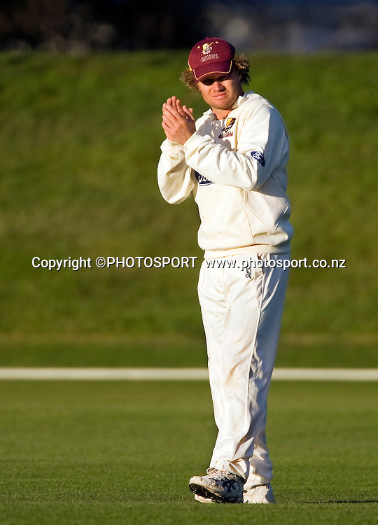 Hamish Marshall for the Northern Knights during play on day two. Canterbury Wizards v Northern Knights, Plunket Shield Game held at Mainpower Oval, Rangiora, Tuesday 05 April 2011. Photo : Joseph Johnson / photosport.co.nz