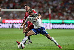 September 10, 2018 - Lisbon, Portugal - Italy's forward Domenico Berardi (R ) vies with Portugal's defender Mario Rui during the UEFA Nations League A group 3 football match Portugal vs Italy at the Luz stadium in Lisbon, Portugal on September 10, 2018. (Credit Image: © Pedro Fiuza/ZUMA Wire)