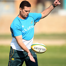 PORT ELIZABETH, SOUTH AFRICA - AUGUST 18, Rassie Erasmus during the South African national rugby team training session and press conference at Nelson Mandela Bay Stadium on August 18, 2011 in Port Elizabeth, South Africa<br /> Photo by Steve Haag / Gallo Images