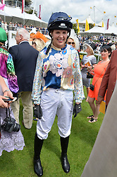 ALEXIS GREEN at the Qatar Goodwood Festival - Ladies Day held at Goodwood Racecourse, West Sussex on 30th July 2015.