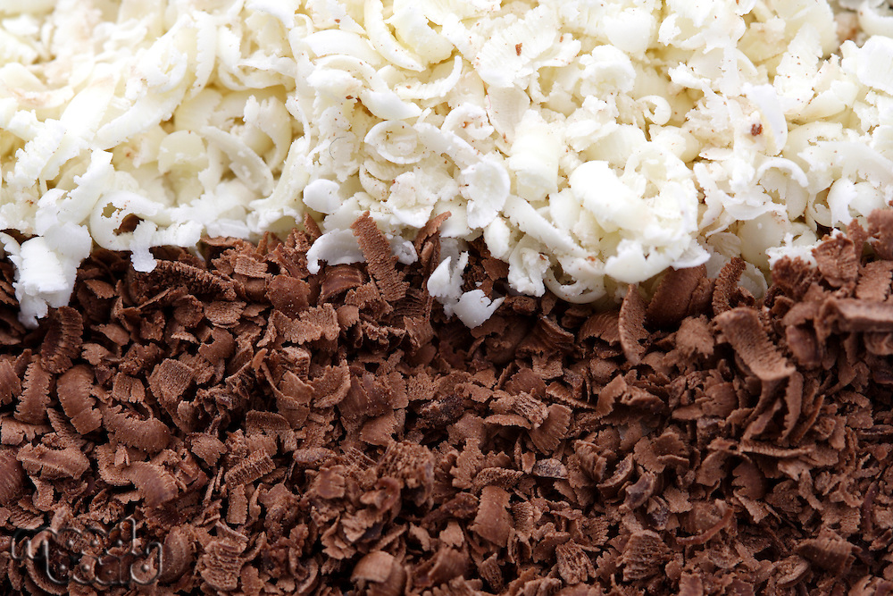 Close up of chocolate shavings