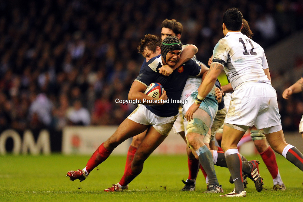 Rugby : Angleterre / France - Tournoi des VI Nations - 26.02.2011 - Thierry Dusautoir (France) *** Local Caption *** 00044519