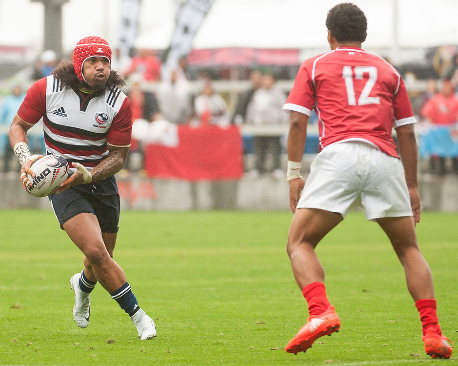 Tonga play the United States at the Silicon Valley Sevens in San Jose, California. November 4, 2017. <br /> <br /> By Jack Megaw.<br /> <br /> TONUSA<br /> <br /> <br /> <br /> www.jackmegaw.com<br /> <br /> jack@jackmegaw.com<br /> @jackmegawphoto<br /> [US] +1 610.764.3094<br /> [UK] +44 07481 764811