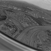 Flying toward El Paso, Texas from Ciudad Juarez, Chihuahua over the border between Mexico and the United States..(Credit Image: © Louie Palu/ZUMA Press).July 2012