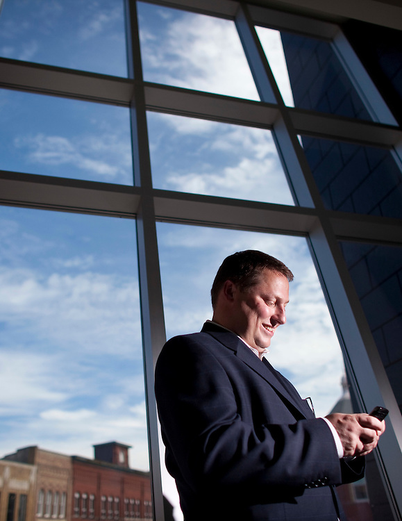 Stratford, Ontario ---10-06-15--- Stratford, Ontario Mayor Dan Mathieson is embracing his city's new identity as a tech center. The University of Waterloo is opening a campus in the city's downtown.<br /> GEOFF ROBINS Toronto Star