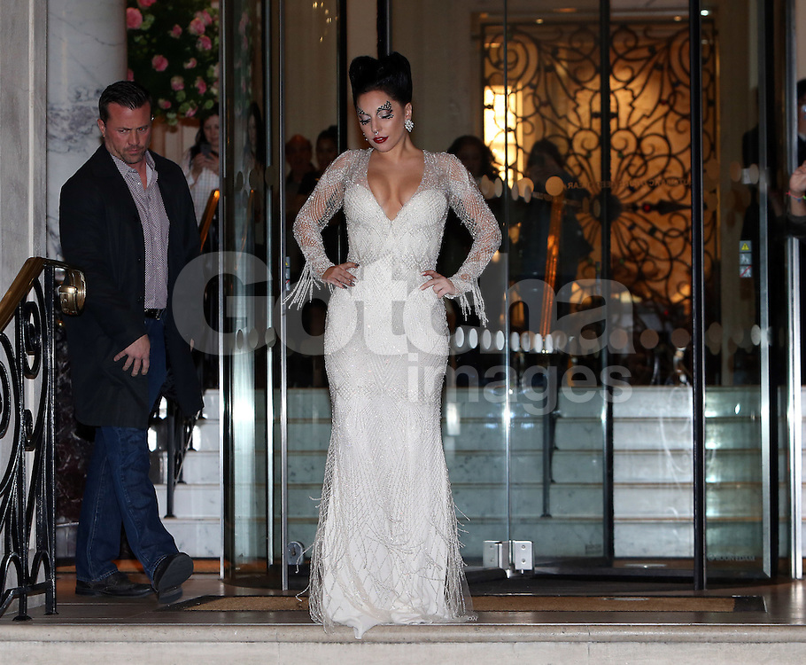 Singer Lady Gaga leaving The Langham Hotel in London, UK. 25/10/2014<br />