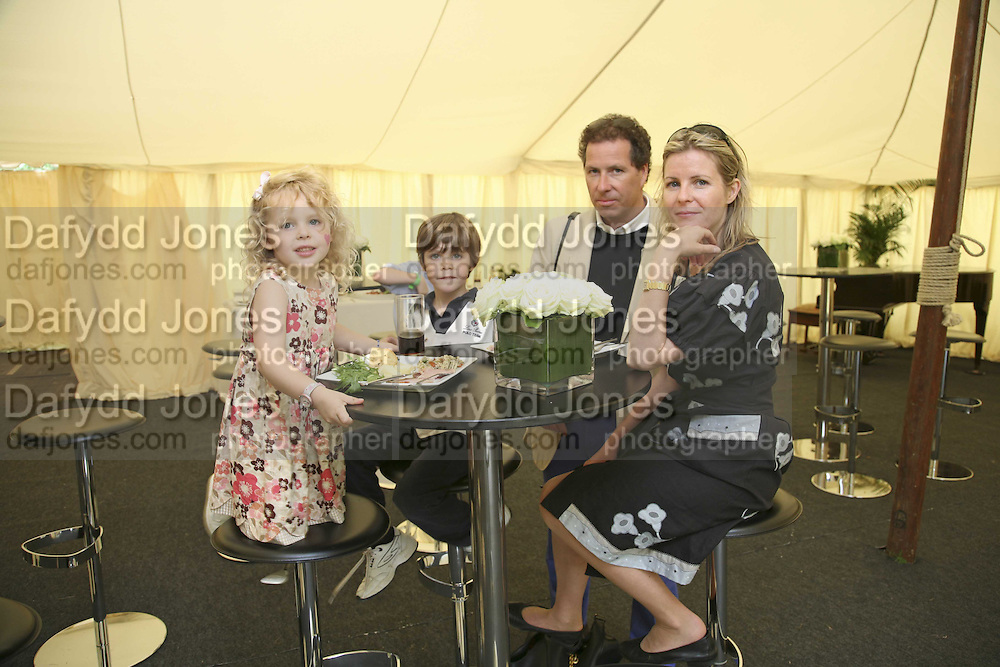 Margarita  Armstrong-Jones,  Charles Armstrong-Jones, Viscount David and Serena Linley. Cartier Style et Luxe champagne reception and lunch at the  the Goodwood festival of Speed. 9 July 2006. -DO NOT ARCHIVE-© Copyright Photograph by Dafydd Jones 66 Stockwell Park Rd. London SW9 0DA Tel 020 7733 0108 www.dafjones.com