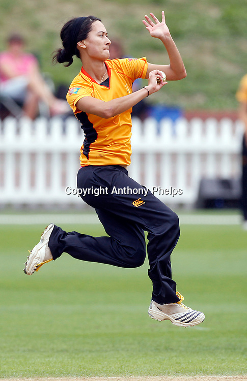 Wellington Blaze's Melinda Hodgson, Action Cricket Twenty20 Final, Blaze v Magicians. Basin Reserve, Wellington. Saturday 5 February 2011. Photo: Anthony Phelps/PHOTOSPORT