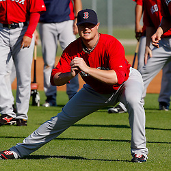 February 23, 2011; Fort Myers, FL, USA; Boston Red Sox starting pitcher Jon Lester (31) during spring training at the Player Development Complex.  Mandatory Credit: Derick E. Hingle