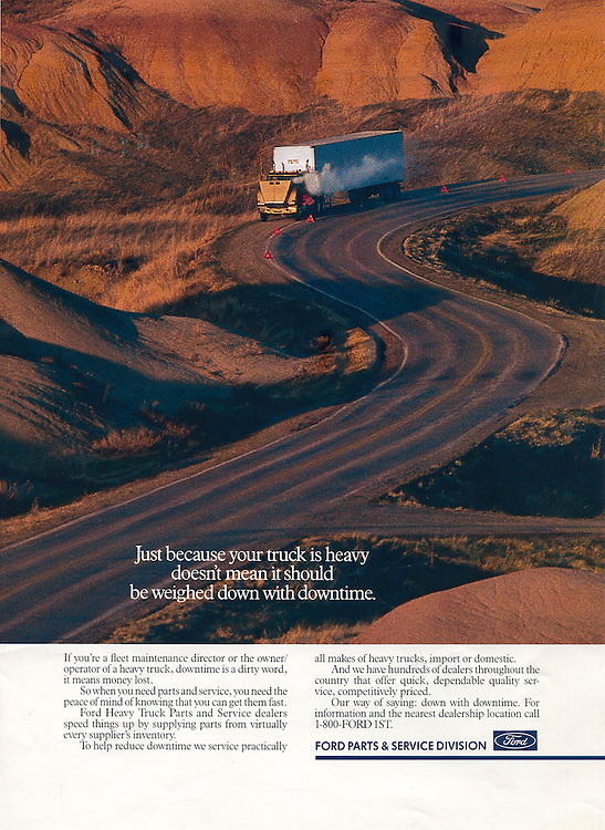 Ford, Truck Broken Down Badlands, South Dakota