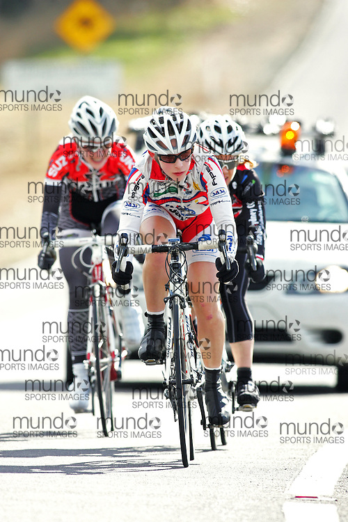(10 Jul 2011---Canberra, Australia) Jessica MUNDY competing in the Sunday morning road race in the DBR Australia 2011 Junior and Women's Canberra Tour at the Stromlo Forest Park circuit in Canberra, ACT. Copyright Sean Burges / Mundo Sport Images, 2011