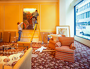 Workers preparing for the opening of Kimpton Fifth Ave Suites in Portland Oregon, 1996