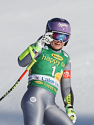 03.12.2017, Lake Louise, CAN, FIS Weltcup Ski Alpin, Lake Louise, Super G, Damen, im Bild Tessa Worley (FRA) // Tessa Worley of France reacts after the ladie's Super G of FIS Ski Alpine World Cup in Lake Louise, Canada on 2017/12/03. EXPA Pictures © 2017, PhotoCredit: EXPA/ SM<br /> <br /> *****ATTENTION - OUT of GER*****