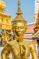 Kinnon statue at Wat Phra Kaew grand palace Bangkok Thailand