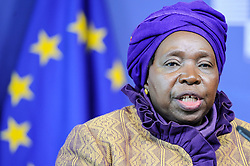 April 22, 2015 - Brussels, Bxl, Belgium - President of the African Union Commission Nkosazana Dlamini-Zuma holds  a press conference after the meeting at European Commission headquarters in Brussels, Belgium on 22.04.2015 by Wiktor Dabkowski (Credit Image: © Wiktor Dabkowski/ZUMA Wire)