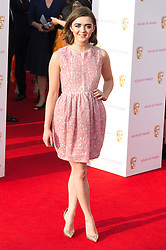 © Licensed to London News Pictures. 08/05/2016. London, UK. MAISIE WILLIAMS attends the BAFTA Television Awards 2016. Photo credit: Ray Tang/LNP