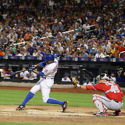 Curtis Granderson, New York Mets, batting during the New York Mets Vs Washington Nationals. MLB regular season baseball game at Citi Field, Queens, New York. USA. 1st August 2015. (Tim Clayton for New York Daily News)