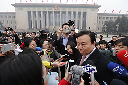 Li Xiaolin, a member of the 12th National Committee of the Chinese People's Political Consultative Conference (CPPCC), receives an interview before the fourth session of the 12th CPPCC National Committee, at the Tian'anmen Square in Beijing, capital of China, March 3, 2016. The fourth session of the 12th CPPCC National Committee is scheduled to open in Beijing on March 3. EXPA Pictures © 2016, PhotoCredit: EXPA/ Photoshot/ Shen Bohan<br /><br />*****ATTENTION - for AUT, SLO, CRO, SRB, BIH, MAZ only*****