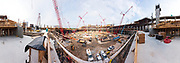 A high resolution 360-degree panorama of contruction work inside the Mercedes Benz Stadium in Atlanta, Georgia, May 15, 2015.