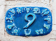 Ceramic numbers the number Nine