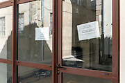 out of business office during the Covid 19 crisis and lockdown France Limoux May 2020
