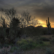 Dramatic sunset over San Tan Regional Park