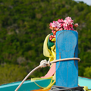 Prow of Thai fishing boat in Khao Sam Roi Yot National Park, Thailand