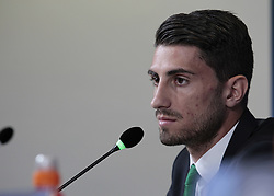 October 17, 2017 - Turin, Italy - Cristiano Piccini during the Champions League press conference before the match between Juventus and Sporrting Clube de Portugal, in Turin, on October 17, 2017  (Credit Image: © Loris Roselli/NurPhoto via ZUMA Press)