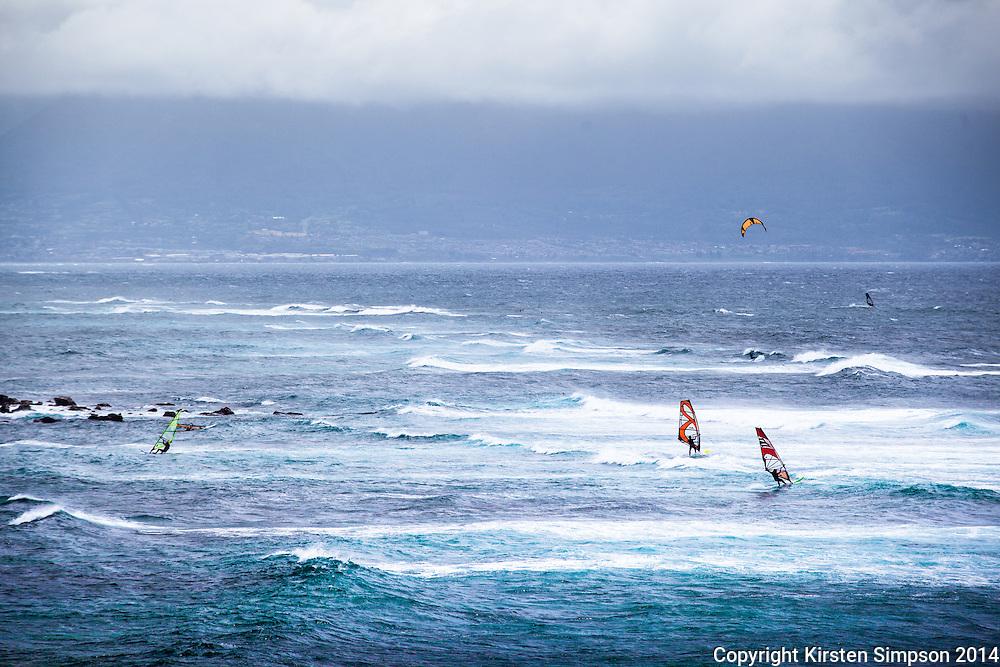 Windsurfing at Ho'okipa Beach Park