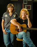 Amy Ray and Emily Saliers, the musical duo that is the Indigo Girls.  Created in Decatur, Georgia for Hands on Atlanta.