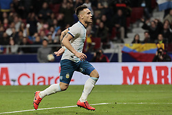 March 22, 2019 - Madrid, Spain - Argentina's Lautaro Martinez celebrates goal during International Adidas Cup match between Argentina and Venezuela at Wanda Metropolitano Stadium. (Credit Image: © Legan P. Mace/SOPA Images via ZUMA Wire)
