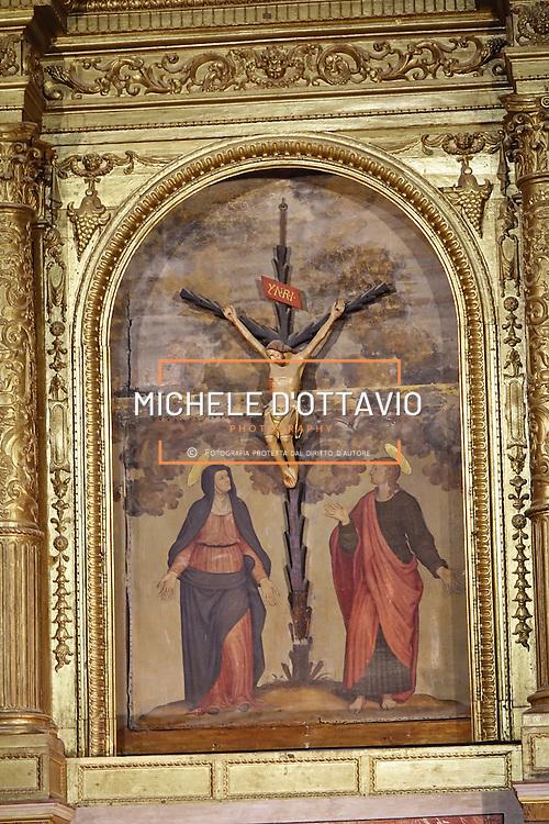 Particolare Interno del Battistero di San Giovanni in corte in Piazza del Duomo a Pistoia, Capitale della Cultura italiana 2017