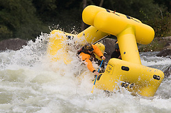 "Unidentified whitewater rafters power their ""Creature Craft"" raft through the rapids at Pillow Rock on the Gauley River during American Whitewater's Gauley Fest weekend. The upper Gauley, located in the Gauley River National Recreation Area is considered one of premier whitewater rivers in the country."