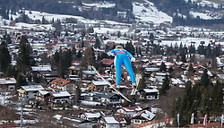 30.01.2016, Normal Hill Indiviual, Oberstdorf, GER, FIS Weltcup Ski Sprung Ladis, Bewerb, im Bild Eva Logar (SLO) // Eva Logar of Slovenia during her Competition Jump of FIS Ski Jumping World Cup Ladis at the Normal Hill Indiviual, Oberstdorf, Germany on 2016/01/30. EXPA Pictures © 2016, PhotoCredit: EXPA/ Peter Rinderer