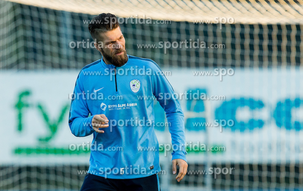 Bostjan Cesar of Slovenia during the practice session of Team Slovenia 1 day before EURO 2016 Qualifier Group E match between Slovenia and San Marino, on October 11, 2015 in Riccione, Italy. Photo by Vid Ponikvar / Sportida