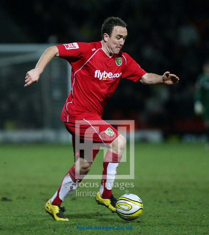 London - Tuesday, March 4th, 2008: Lee Croft of Norwich City during the Coca Cola Champrionship match at Vicarage Road, London. (Pic by Chris Ratcliffe/Focus Images)