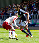Dundee's Faissal El Bakhtaoui and Rangers' Jordan Rossiter - Dundee v Rangers, Ladbrokes Scottish Premiership at Dens Park<br /> <br />  - © David Young - www.davidyoungphoto.co.uk - email: davidyoungphoto@gmail.com