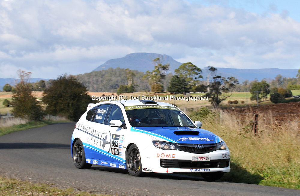 Dean Herridge & Glen Weston .2008 Subaru Impreza WRX STI.Day 3.Targa Tasmania 2009.1st of May 2009.(C) Joel Strickland Photographics.