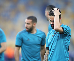 May 25, 2018 - Kiev, Ukraine - Real Madrid's Isco during a Real Madrid team training session at the Olympic Stadium in Kiev, Ukraine on May 25, 2018, on the eve of the UEFA Champions League final football match between Liverpool and Real Madrid. (Credit Image: © Raddad Jebarah/NurPhoto via ZUMA Press)