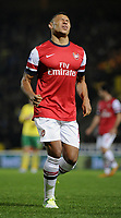 Football - Premier League - Norwich City v Arsenal<br />Alex Oxlade-Chamberlain pulls up lame and his substituted