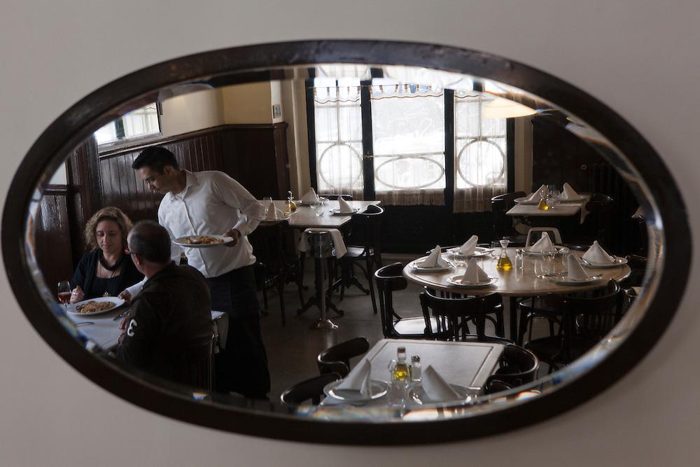 Well-known El Pescador restaurant in Poblenou, Barcelona, Catalonia, Spain.