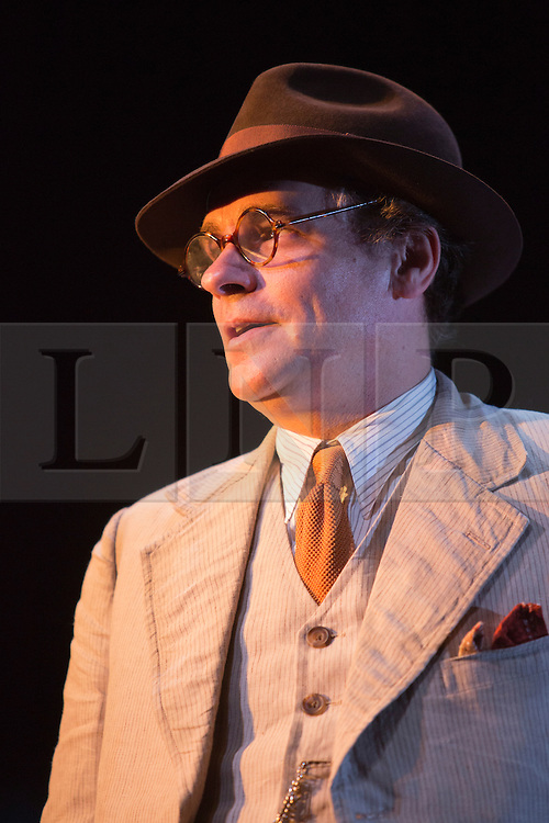 """© Licensed to London News Pictures. 25/06/2015. London, UK. Robert Sean Leonard as Atticus Finch. Photocall for """"To Kill a Mockingbird"""" at the Barbican Theatre with Robert Shean Leonard as Atticus Finch and Ava Potter as Scout.  The Regent's Park Open Air Theatre production directed by Timothy Sheader will be at the Barbican from 24 June to 25 July 2015. Adapted for the stage by Christopher Sergel based on the novel by Harper Lee. Photo credit : Bettina Strenske/LNP"""