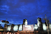"Rome, Italy Outdoor concert ""The Roman Trilogy"" at The Baths of Caracalla (Terme di Caracalla)"