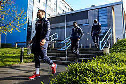 Bristol Flyers arrive at London Lions - Photo mandatory by-line: Robbie Stephenson/JMP - 10/04/2019 - BASKETBALL - UEL Sports Dock - London, England - London Lions v Bristol Flyers - British Basketball League Championship