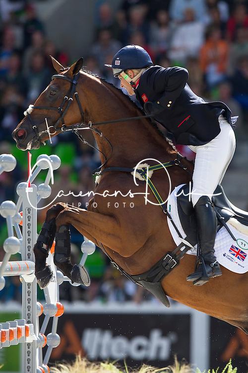 Zara Phillips, (GBR), High Kingdom - Jumping Eventing - Alltech FEI World Equestrian Games™ 2014 - Normandy, France.<br /> © Hippo Foto Team - Leanjo De Koster<br /> 31-08-14